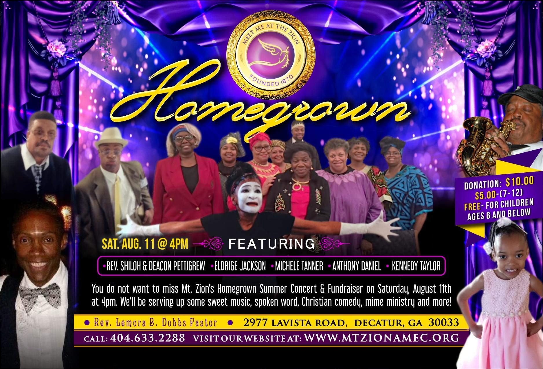 Mt. Zion Decatur 2018 Annual Homegrown Concert