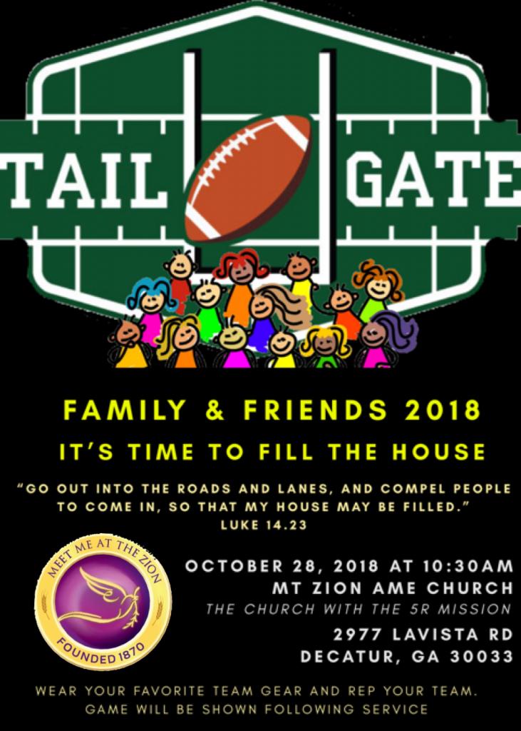Mt Zion Decatur 2018 - Friends & Family Flyer