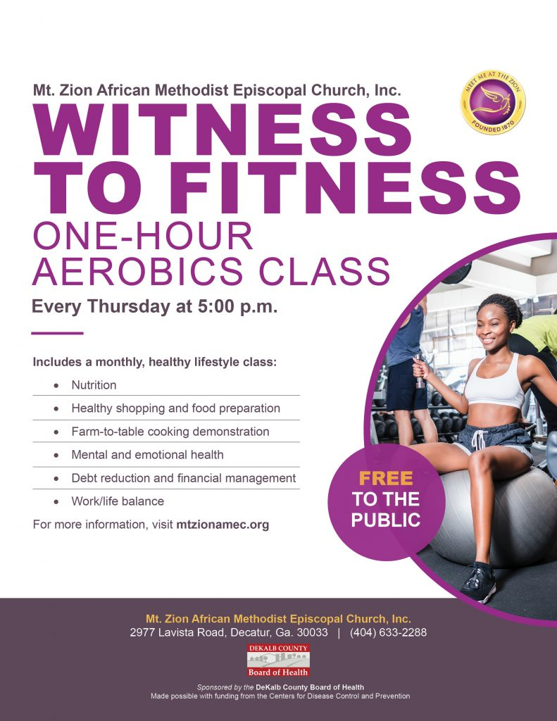 Mt Zion Decatur 2019 Witness to Fitness with DeKalb County Board of Health