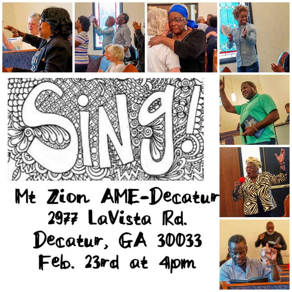 Mt Zion Decatur 2019 - Sing! Flyer